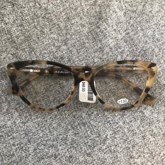 e420be78f9a8 A.J. Morgan Accessories | Tortoise Retro Cateye Reading Glasses ...